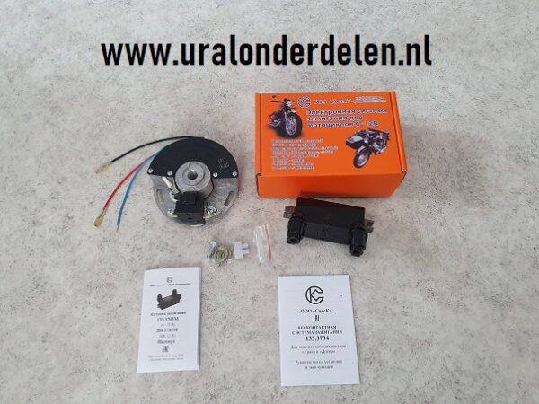 Sovek elektronische ontsteking Dnepr en Ural 12volt Dnepr MT650cc modellen en Ural imz 650cc 12volt