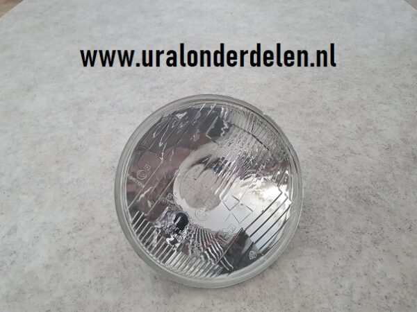 Koplamp blaker glas met reflector www.uralonderdelen.nl ural dnepr