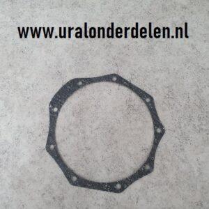 Pakking krukas lagerplaat achter vliegwiel Ural, M72, K750 www.uralonderdelen.nl